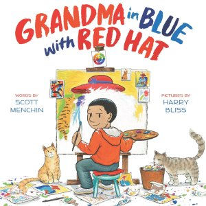 grandma-in-blue-with-red-hat